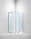 Душова кабіна Dusel А-511, 100х100х190, розсувні двері, скло шиншила, фото 10