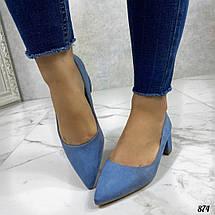 Туфли женские голубые, фото 2