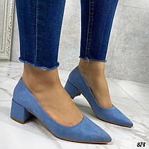 Туфли женские голубые, фото 3