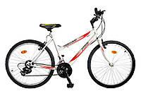 """Велосипед багатошвидкісний 24"""" TEENAGER модель 47 SH ХВЗ Біло-червоний"""