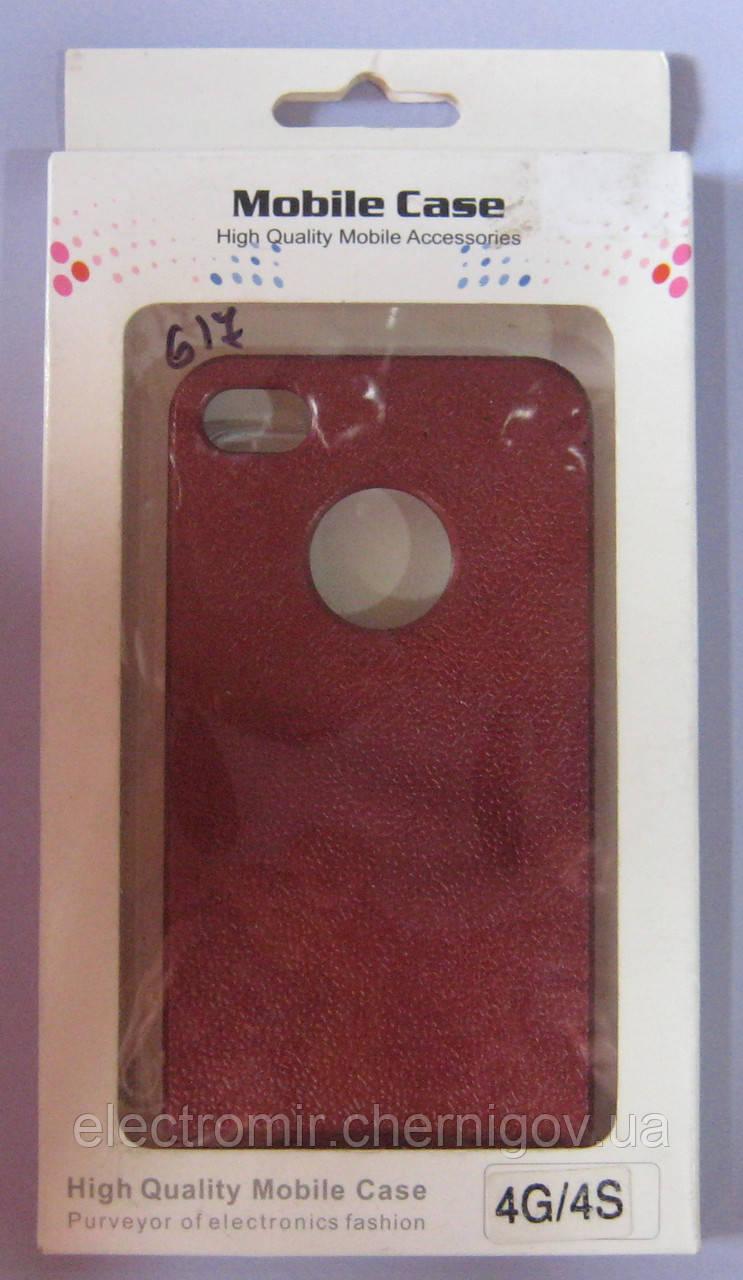 Чехол-бампер для телефона IPhone 4,4S,4G (красный)