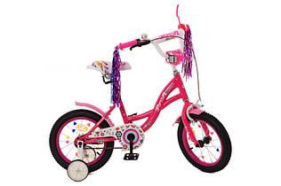 Велосипед розовый PROF1 12д. Y1221 Bloom