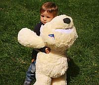 Лежачий мишка Физзи Мун 95 см.Мягкая ирушка.Плюшевый мишка.Мягкая игрушка украина.игрушка медведь абрикосовый с белой пуговкой