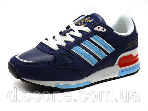 Кроссовки Adidas ZX750 унисекс, кожаные, темно-синие