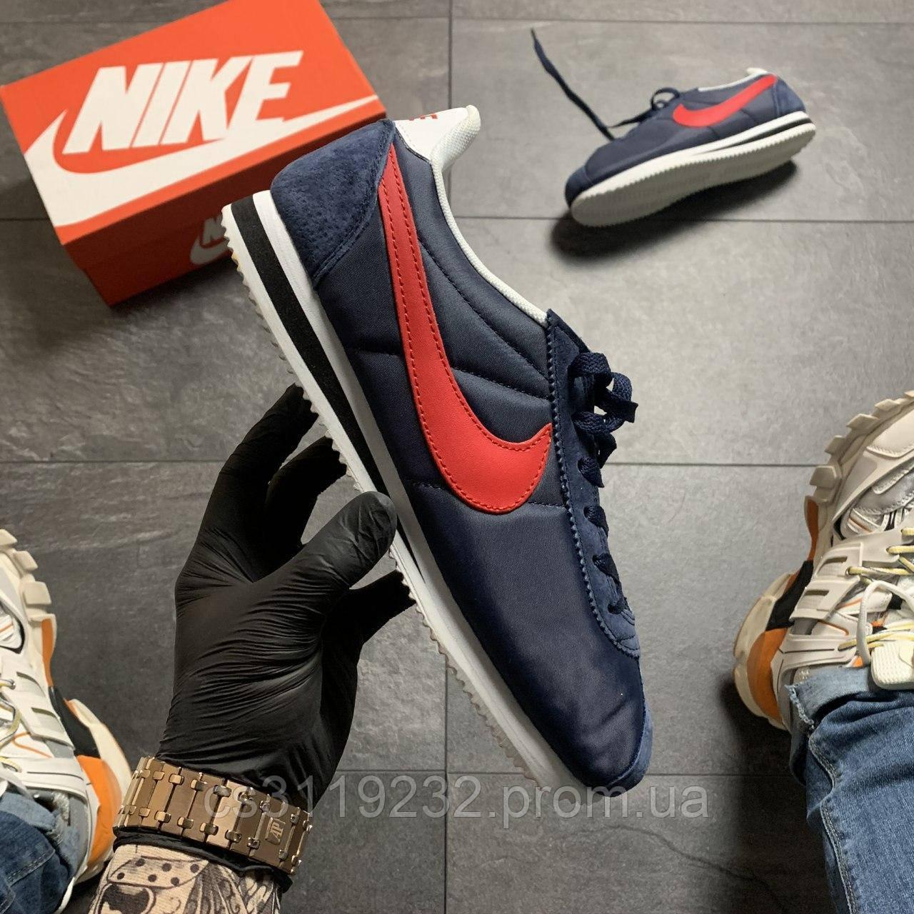 Мужские кроссовки Nike Cortez Blue Red (сине-красные)
