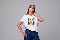 Футболка женская, с авторским принтом. Футболка бойфренд. Футболка на подарок. Печать на футболке.