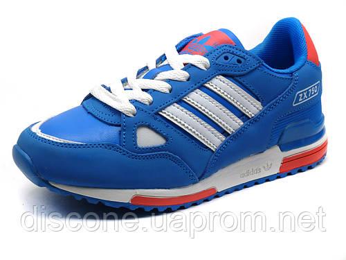 Кроссовки Adidas ZX750 унисекс, кожаные, синие