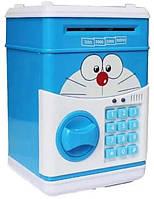Сейф-скарбничка дитячий Cartoon Box 7030 з кодовим замком, кіт, фото 1