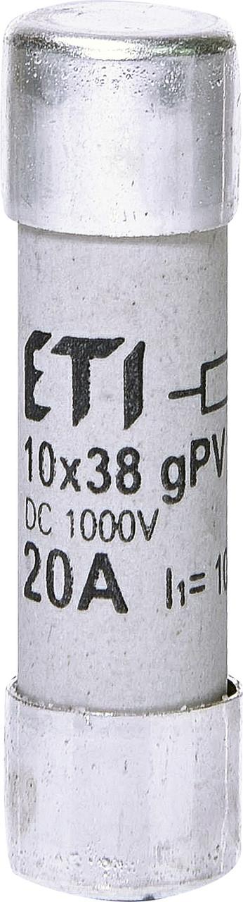 Предохранитель ETI CH 10x38 gPV 20A 1000V DC UL 10kA 2625108 (для фотоэлектрических систем PV)