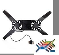Подставка под ноутбук с охлаждения сист. TS-202 с подсветкой, фото 2