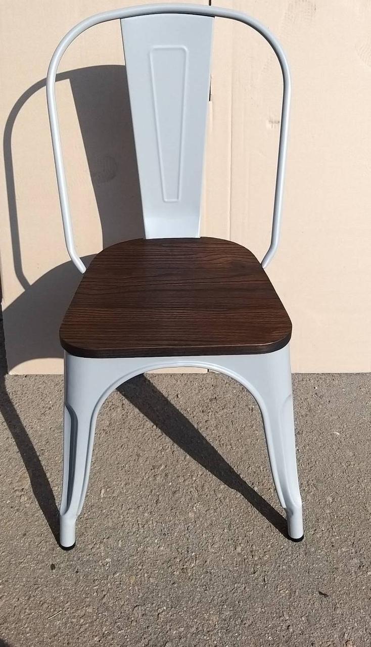 Металлический стул Толикс Вуд серый глянец от SDM Group, штабелируемый