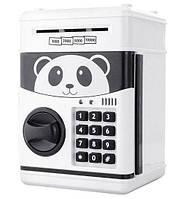 Сейф-скарбничка дитячий Cartoon Box 7030 з кодовим замком, панда, фото 1