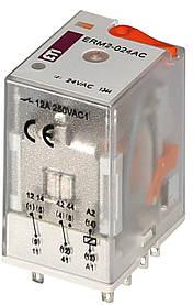 Реле промежуточное ETI ERM2-024AC 2P 24V AC 12А 2473002 (электромеханическое)