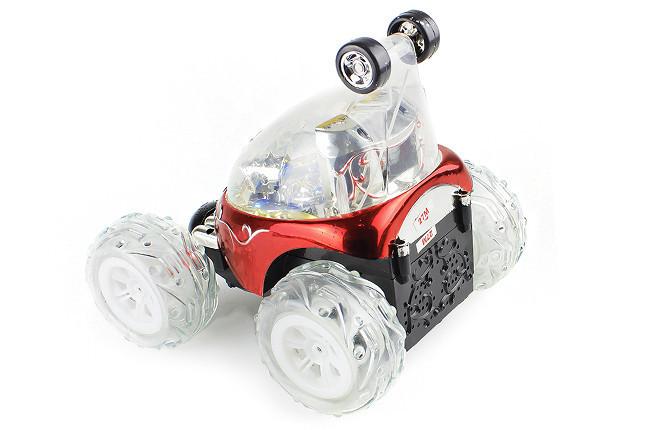 Машина перевертыш игрушка для детей на пульте управления трюковая красный