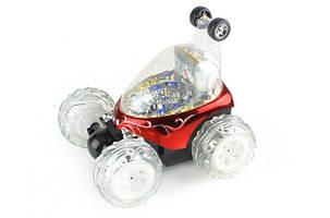 Машина перевертыш игрушка для детей на пульте управления трюковая красный, фото 2
