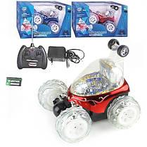 Машина перевертыш игрушка для детей на пульте управления трюковая красный, фото 3