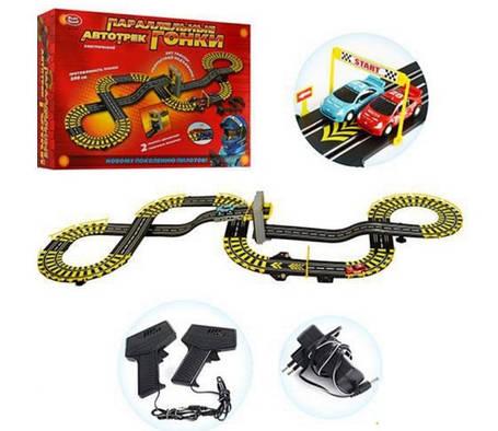Дитячий автотрек паралельні гонки Joy Toy, фото 2