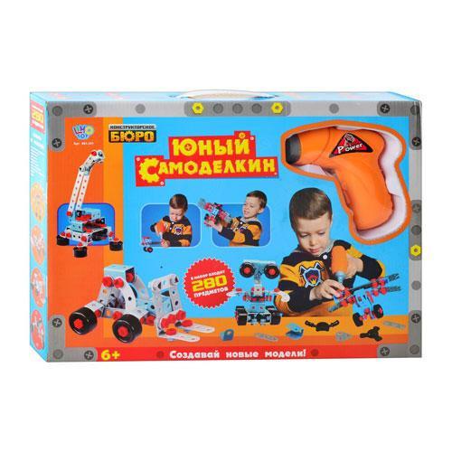 Конструктор детский для мальчиков от 4 лет пластиковый шуруповерт