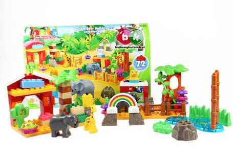 """Конструктор дитячий від 3 років пластиковий великі деталі. """"Зоопарк"""" 72 деталі, фото 2"""