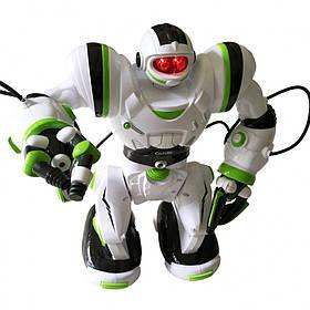 Робот радиоуправляемый (Бело-зелёный) / Детские игрушки