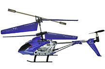 Вертоліт акум р/у 33008 синій, фото 2