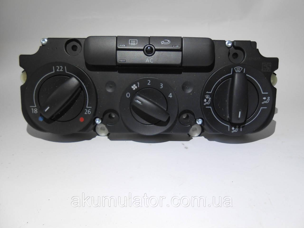 """Контроль подачі свіжого і теплого повітря """"Satinschwarz/білий"""" 1K0820047FTWHS Skoda, Volkswagen, Seat"""