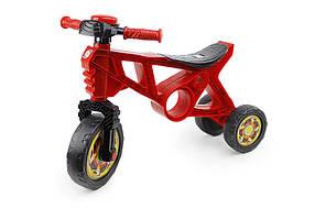 Детский мотоцикл беговел 3-х колесный 171R Красный