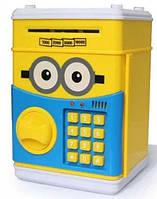 Сейф-копилка детский Cartoon Box 7030 с кодовым замком, миньон, фото 1