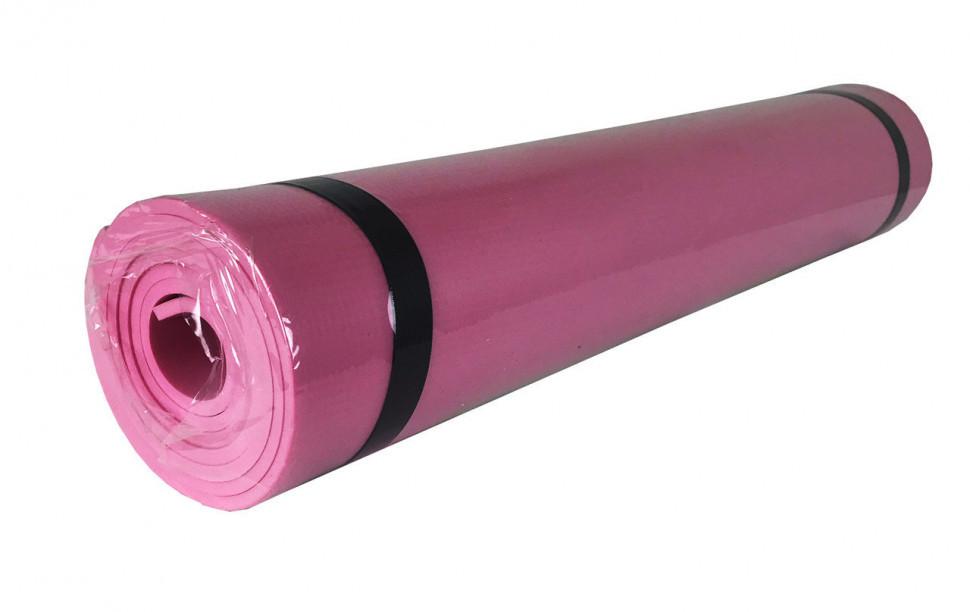 Йогамат для фітнесу/ килимок для йоги (Рожевий)