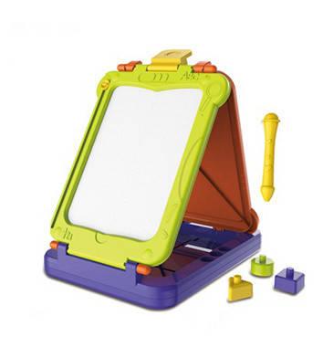 Детская двухсторонняя досточка пластиковая для рисования, фото 2