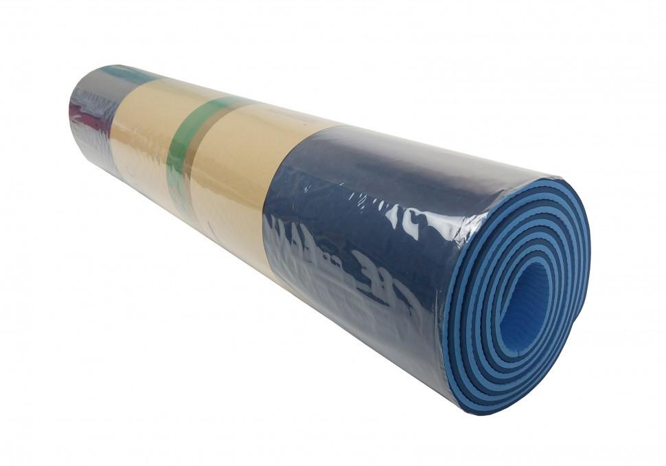Йогамат універсальний / килимок для фітнесу універсальний (Синій)