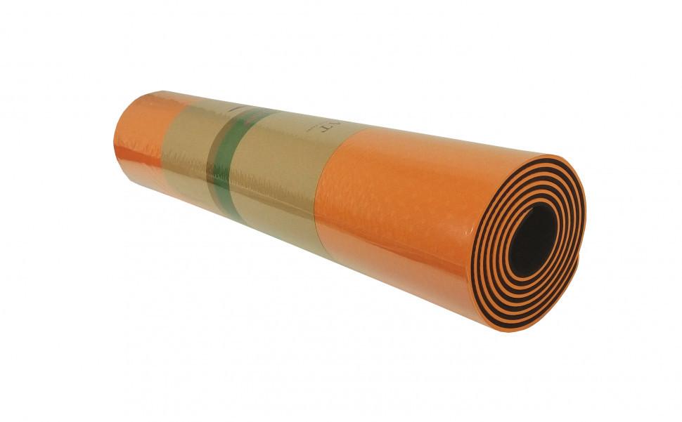 Йогамат універсальний / килимок для фітнесу універсальний (Помаранчевий)