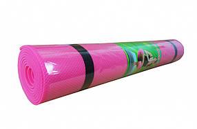 Йогамат, килимок для фітнесу (Рожевий)