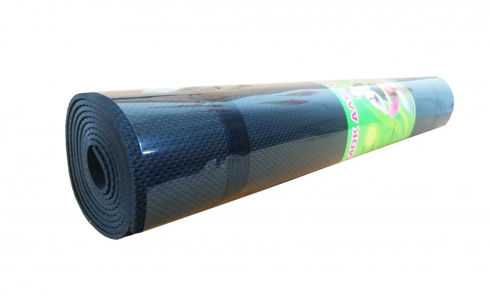 Йогамат, коврик для фитнеса (Черный)