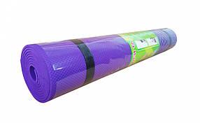 Йогамат / килимок для фітнесу (Фіолетовий)