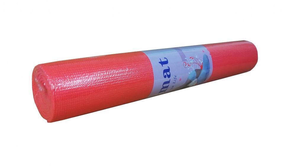 Йогамат / килимок для фітнесу (Червоний)