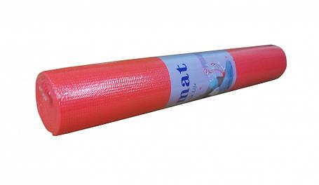 Йогамат / килимок для фітнесу (Червоний), фото 2