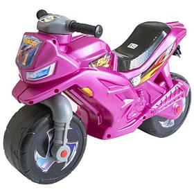 Детский мотоцикл беговел 2-х колесный 501-1PN (Розовый Перламутр)