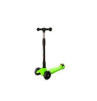Самокат детский трехколесный складной iTrike (Зелёный)