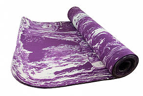 Йогамат универсальный цветной / коврик для фитнеса универсальный цветной  (Violet), фото 2