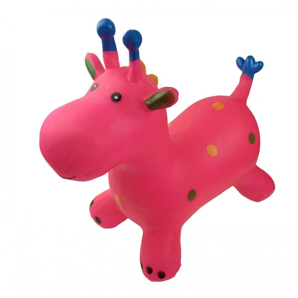Прыгун жираф (Розовый) / Прыгун для детей