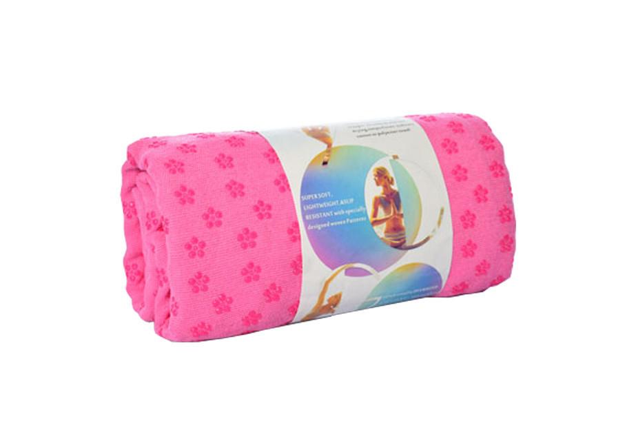 Полотенце для йоги / полотенце для фитнеса (Малиновое)