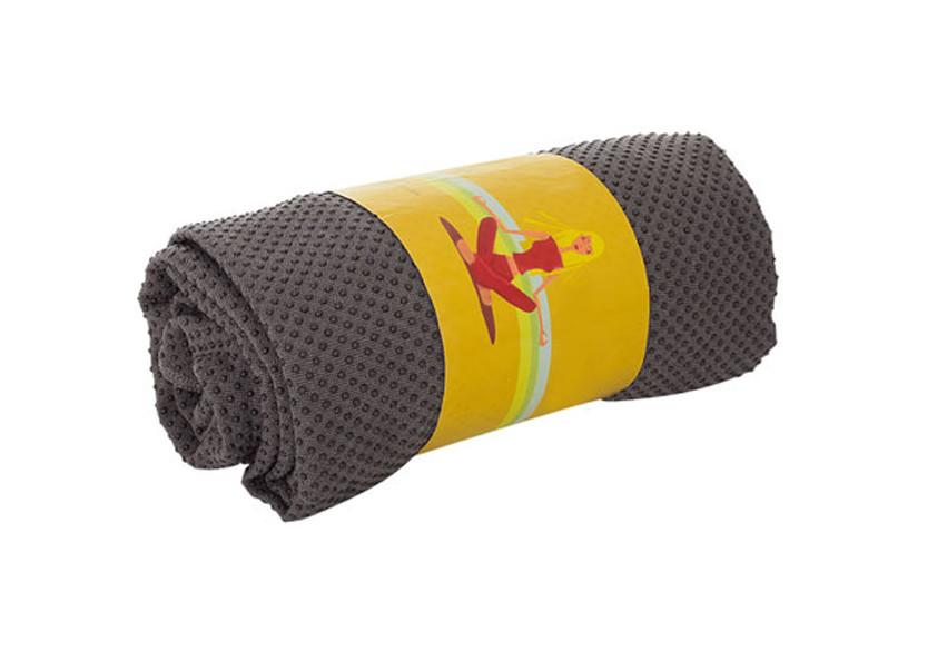 Рушник для йоги/ рушник для фітнесу (Сірий)