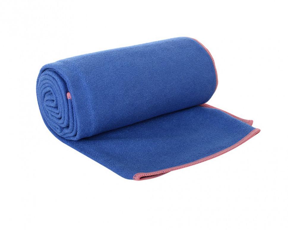 Полотенце для фитнеса/ полотенце для йоги (Синее)