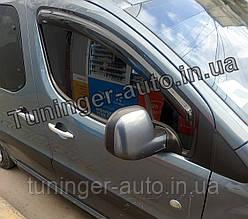 Ветровики, дефлекторы окон Peugeot Partner/Citroen Berlingo 2008-> (Hic)