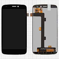 Дисплейный модуль (дисплей + сенсор) для Fly Phoenix 2 IQ4410i, черный, оригинал