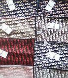 Женский Платок Шелковый брендовый Dior Диор. 90*90 см. В расцветках, фото 3