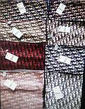 Женский Платок Шелковый брендовый Dior Диор. 90*90 см. В расцветках, фото 4