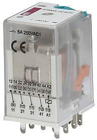 Реле промежуточное ETI ERM4-24DC 4P 24V DC 6А 2473006 (электромеханическое)