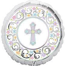 """Фольгована кулька коло з хрестом 18"""" Anagram"""